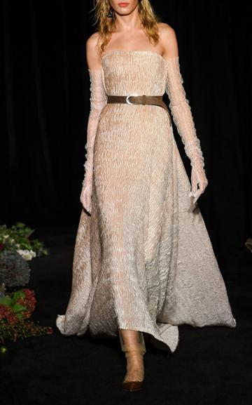Moda Operandi Danielle Frankel Virginie Crinkle Handkerchief Gown Size: 0