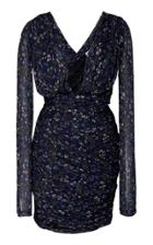 Altuzarra Slyvian Ruched Chiffon Mini Dress