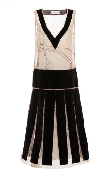 Moda Operandi Marina Moscone Layered Silk-blend Dress