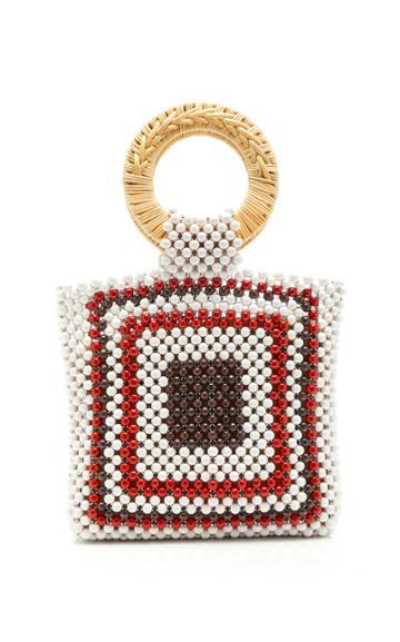 Ulla Johnson Keya Mini Beaded Top Handle Bag