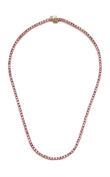 Mateo Gold, Pink Sapphire Necklace