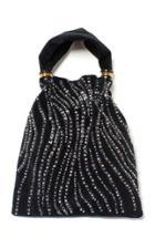 Moda Operandi Lizzie Fortunato Gala Embroidered Velvet Top Handle Bag