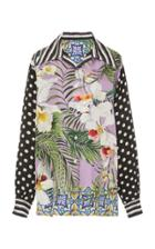 Moda Operandi Dolce & Gabbana Multi-printed Foulard Top Size: 36
