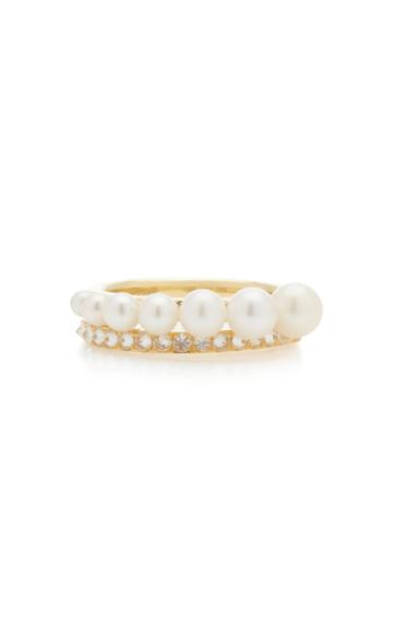 Lauren X Khoo Diamond Pearl Mitosis Ring
