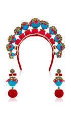 Magnetic Midnight X Ranjana Khan M'o Exclusive: Gonghzu Headband & Earrings Set