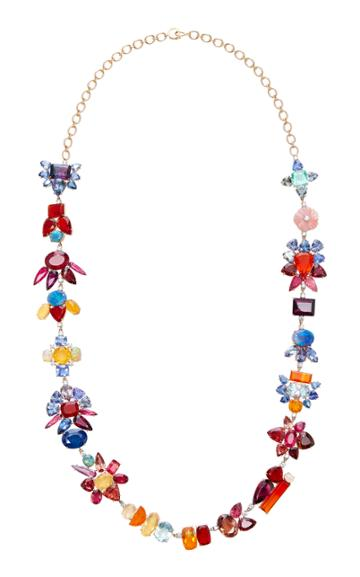Irene Neuwirth 18k Rose And White Gold Multi-stone Necklace