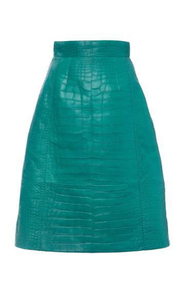Moda Operandi Dolce & Gabbana Crocodile Skirt Size: 38