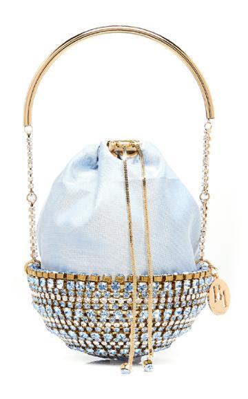 Rosantica Kingham Crystal-embellished Gold-tone Top Handle Bag