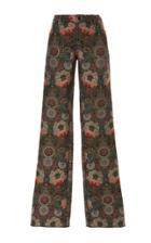 Anna Sui Floral Jacquard Pant