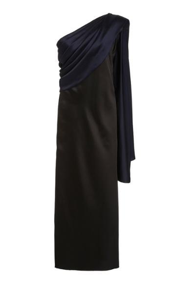 Moda Operandi Marina Moscone One-shoulder Satin Dress