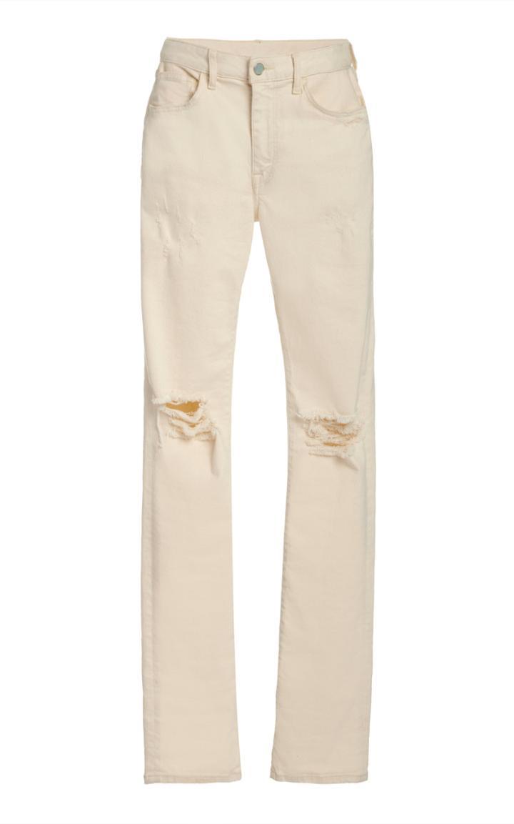 Moda Operandi Brandon Maxwell Distressed Low-rise Straight-leg Jeans