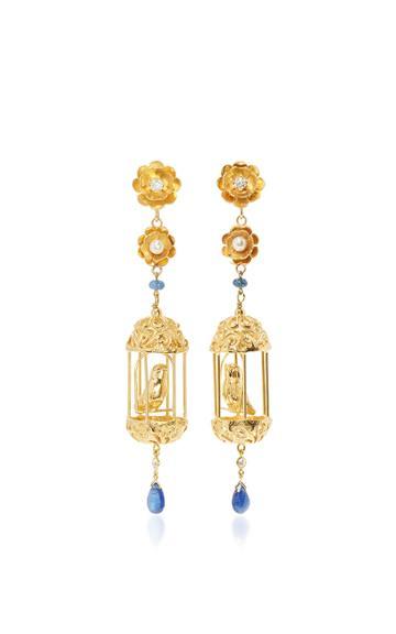 Of Rare Origin Exclusive Gold Aviary Classic Earrings