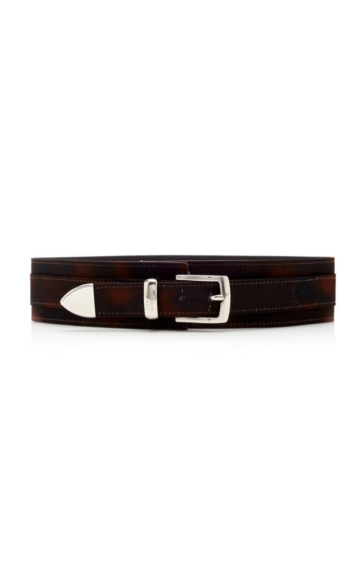 Moda Operandi Brandon Maxwell Tortoise-print Waist Leather Belt