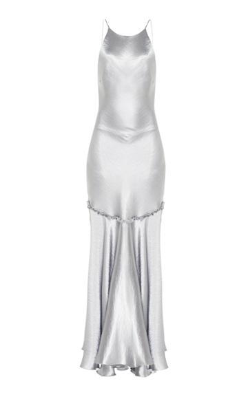 Maria Lucia Hohan Becca Metallic Satin Dress