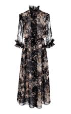 Oday Shakar Printed Midi Dress