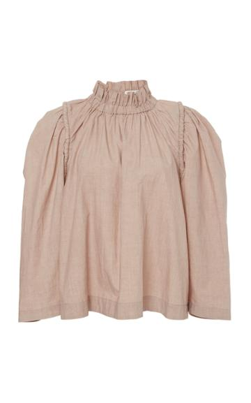 Sea Sienne Ruched Cotton Top