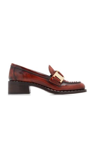 Prada Leather Chain Loafers