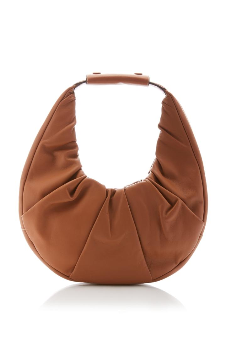 Moda Operandi Staud Mini Soft Moon Leather Top Handle Bag