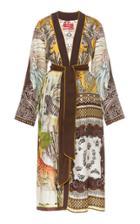 Moda Operandi For Restless Sleepers Nomos Scarf-print Silk Robe Size: S