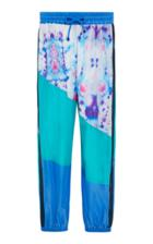 Burberry Tie-dyed Color-block Silk Jogger Pants