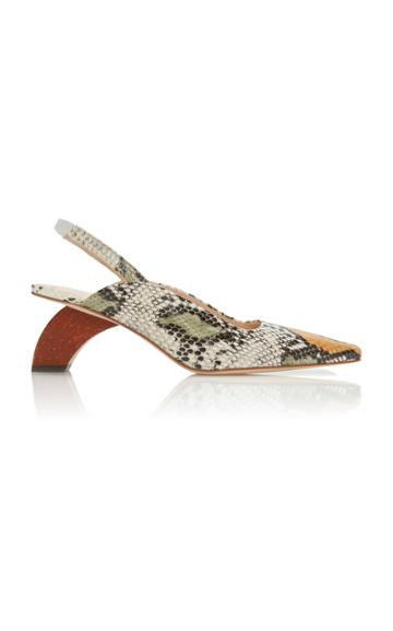 Rejina Pyo Dylan Snake Embossed Leather Mules