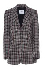 Dondup Plaid Wool Blazer