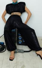 Moda Operandi Kalmanovich Shimmery Wide Leg Pants