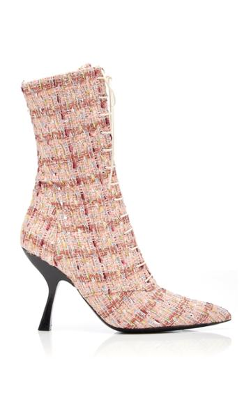 Brock Collection Tweed Lace Up Booties