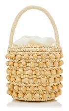 Sensi Studio Beaded Straw Bucket Bag