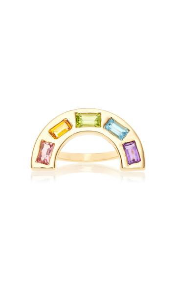 Brent Neale M'o Exclusive Large Deconstructed Rainbow Ring