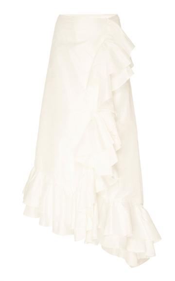 Markarian Bradamante Cascading Ruffle Wrap Skirt