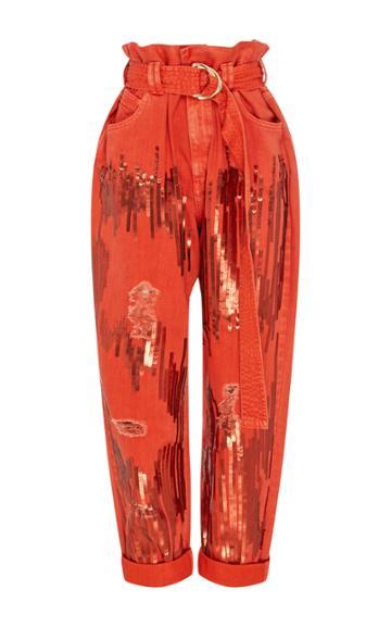 Aje Eucalypt Sequin Jeans