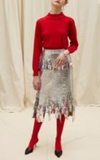 Goen.j Metallic Foil Midi Skirt