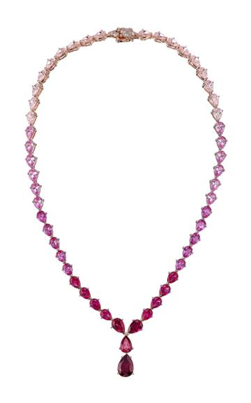 Moda Operandi Anabela Chan 18k Rose Gold Vermeil Fuchsia Nova Necklace