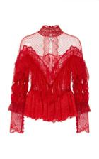Amen Couture Ruffle Lace Blouse