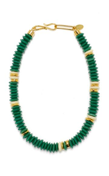 Lizzie Fortunato Laguna Beaded Gold-plated Necklace