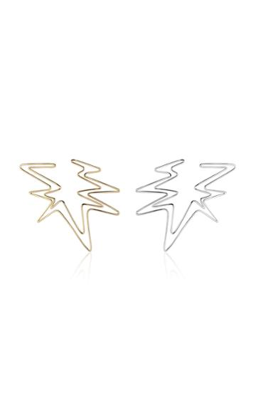 Kendra Pariseault Sound Wave Hoop Earring In Yellow And White Gold