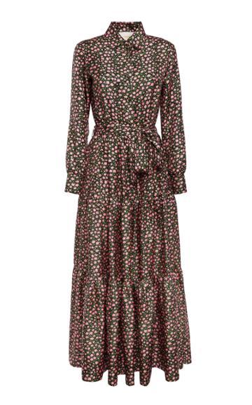 Moda Operandi La Doublej Bellini Floral Silk Maxi Dress Size: L