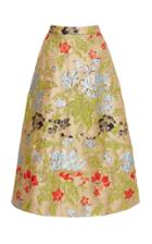 Rochas Oenodera Print Pencil Skirt