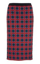 Versace Fitted Jacquard-knit Skirt
