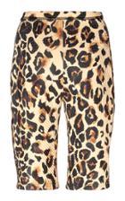 Mugler Leopard Print Biker Shorts