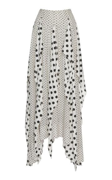 Cyclas Waterfall Ruffle Silk Skirt