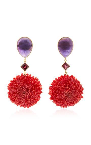 Bahina Real Dalia Multi-stone Earrings