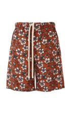 Loewe Floral-print Drawstring Shorts
