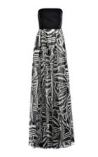 Genny Strapless Printed Gown