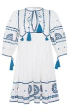 Talitha Embroidered Indian Peasant Dress