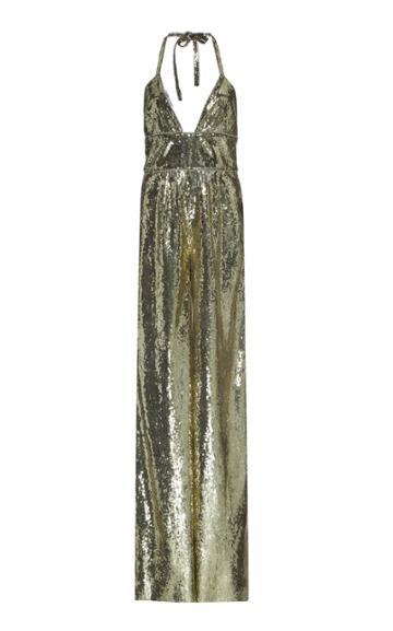 Dundas Sequin Embellished Wide Leg Jumpsuit