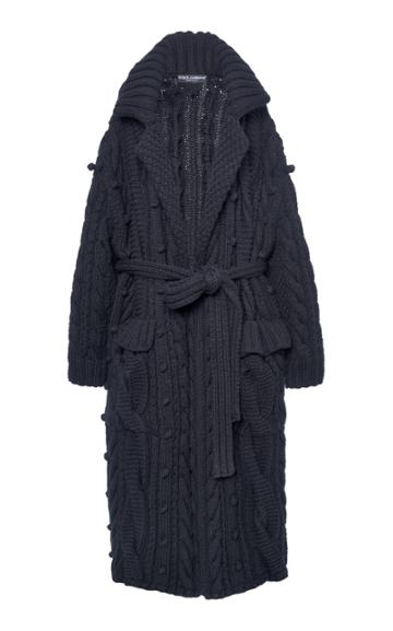 Moda Operandi Dolce & Gabbana Oversized Cable-knit Maxi Length Cardigan