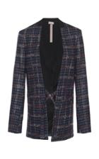Mrz Collarless Plaid Blazer
