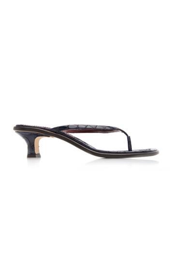 Sies Marjan Alix Croc-effect Leather Sandals